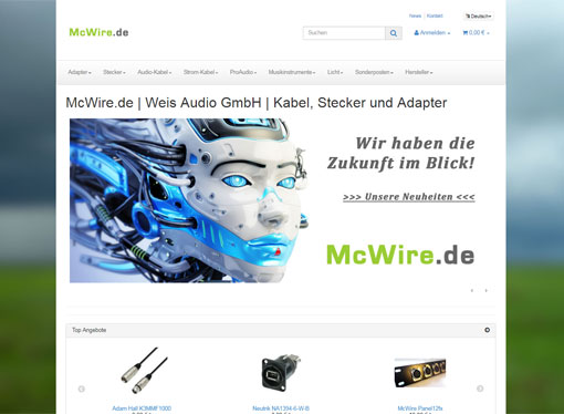 Screenshot McWire.de