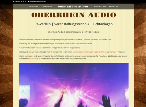 Screenshot Oberrhein Audio